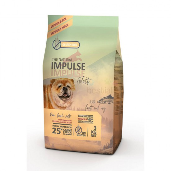 THE NATURAL IMPULSE DOG SALMÓN 3 KG