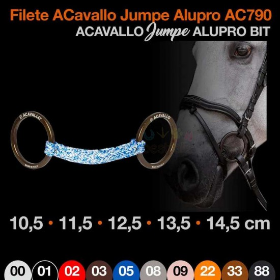 FILETE ACAVALLO JUMPE ALUPRO AC790 11.5cm MARRÓN